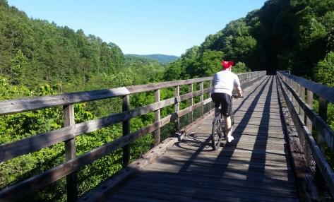 New River Trail ride Eddie Gwen Mick 12 Draper VA 06-14-2014.jpg